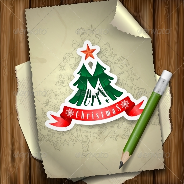 GraphicRiver Christmas Sticker 6157853