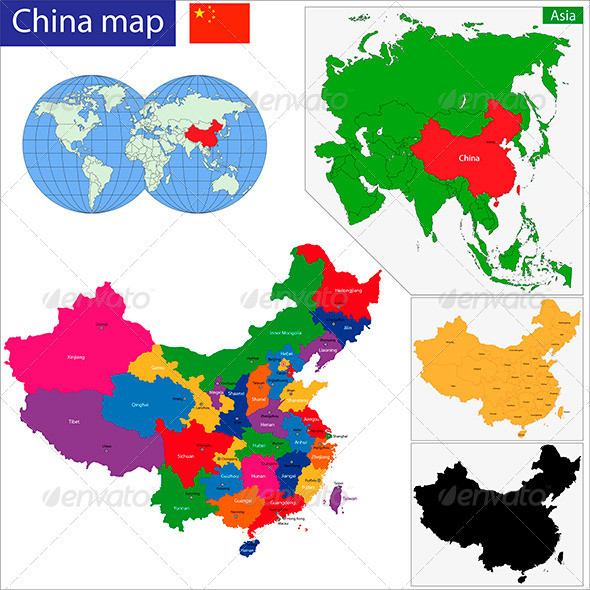 GraphicRiver China Map 6158610
