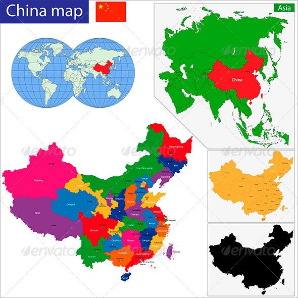 GraphicRiver China Map 6158610