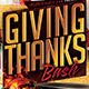 Giving Thanks Flyer Template - GraphicRiver Item for Sale