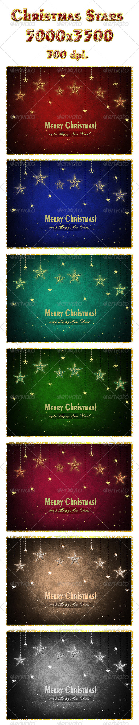 GraphicRiver Christmas Stars 6159266
