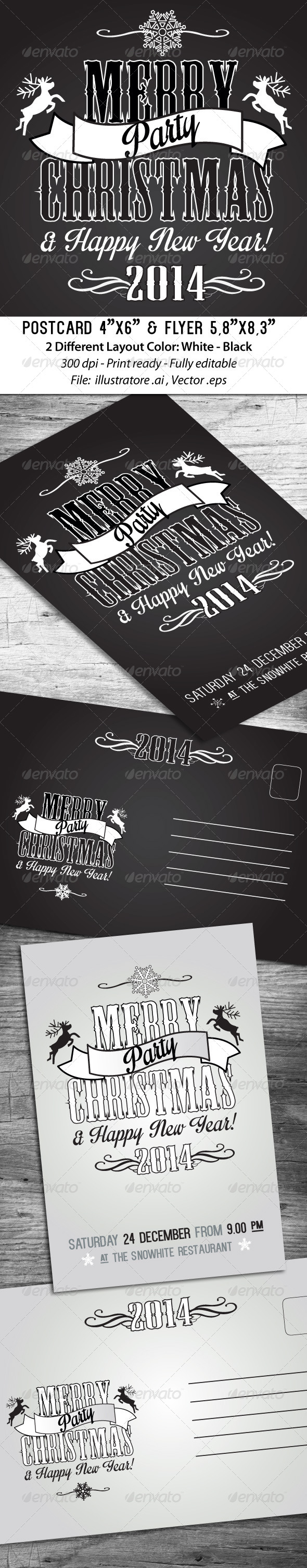 GraphicRiver Merry Christmas Invites & Flyers 6159284