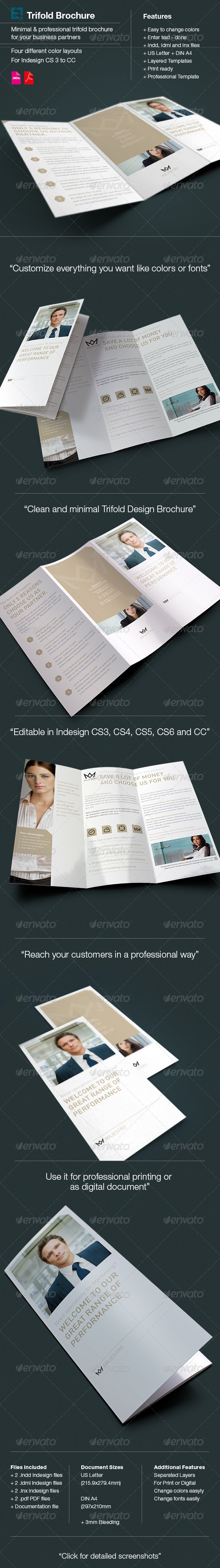 GraphicRiver Majestro Trifold Brochure Letter & A4 6159891