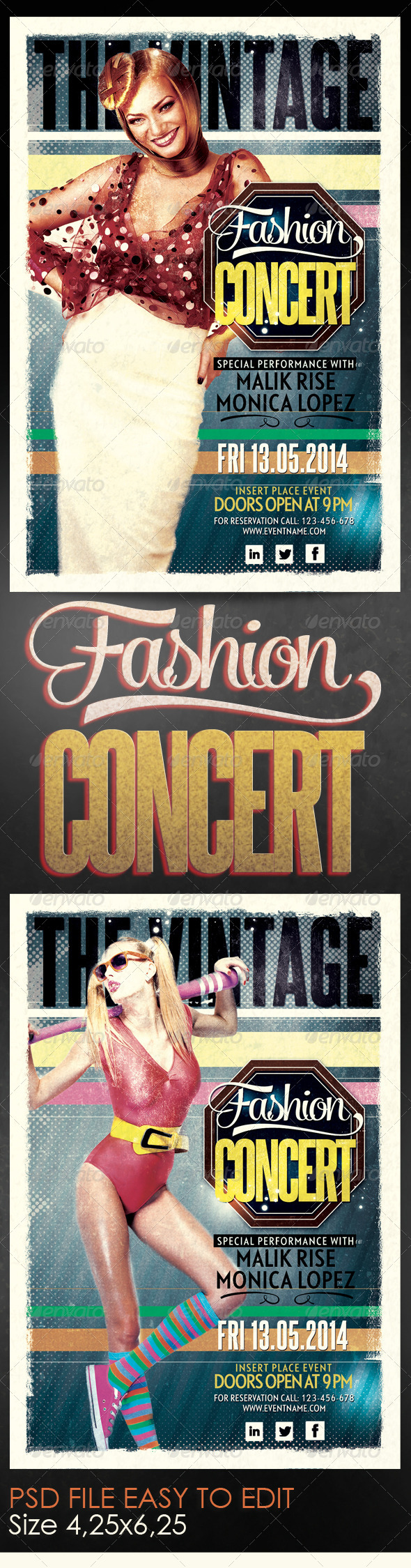GraphicRiver Fashion Concert Flyer Template 6160787