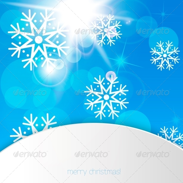 GraphicRiver New Year Snowflakes Background 6161067