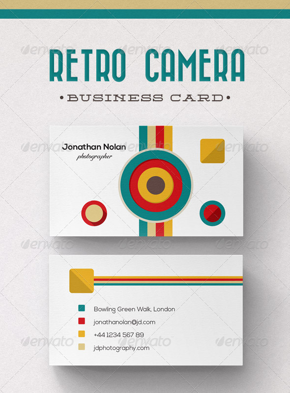 GraphicRiver Retro Camera Business Card 6131451