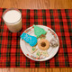 Christmas Cookies and Milk on Plaid Placemat - PhotoDune Item for Sale