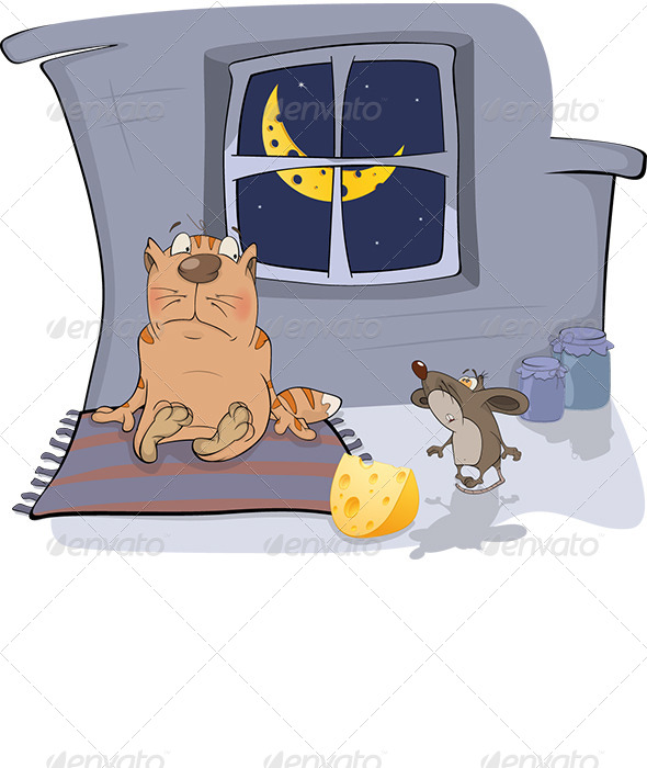 GraphicRiver About a Cat and a Mouse Cartoon 6162601