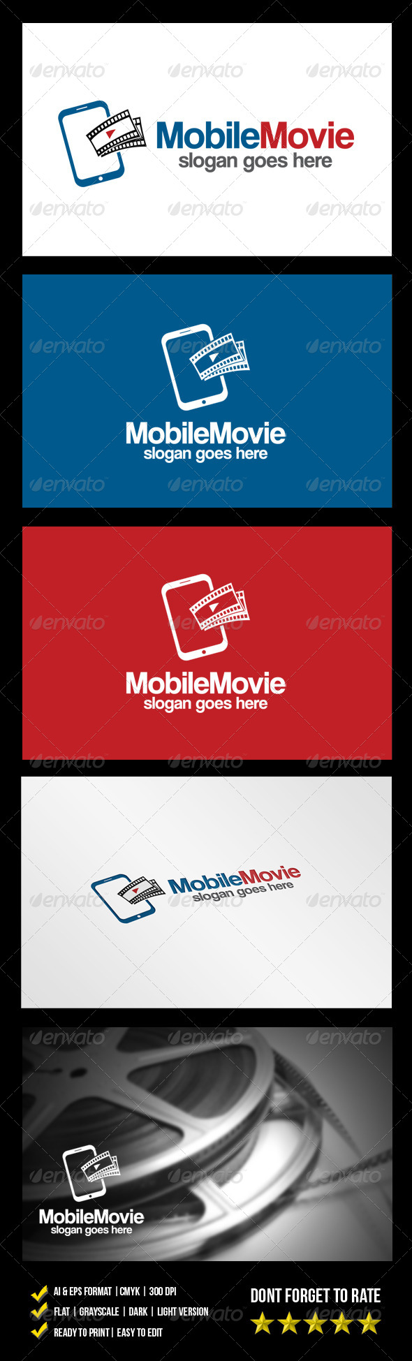 GraphicRiver Mobile Movie Logo 6164014