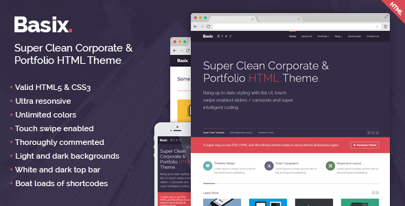 ThemeForest Basix Super Clean Corporate HTML Template 6164209