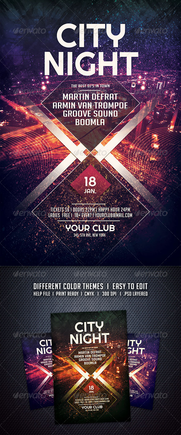 GraphicRiver City Night Flyer 6165122