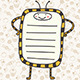 Yellow Bee List Design - GraphicRiver Item for Sale
