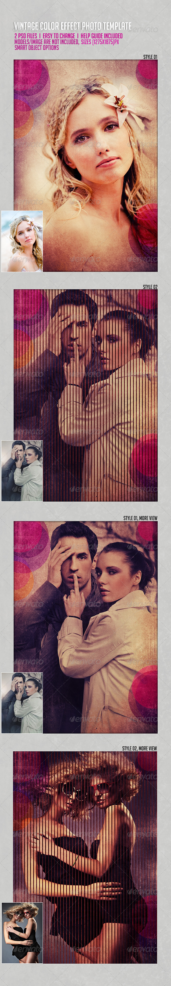 GraphicRiver Vintage Color Effects Photo Template 6167689