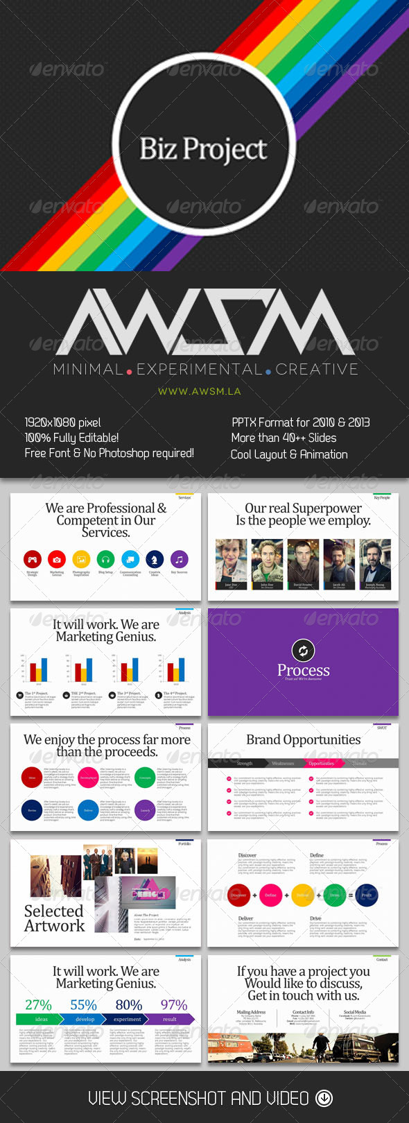 GraphicRiver Classic Serif Project Powerpoint 6168074