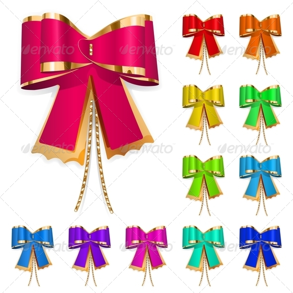 GraphicRiver Set Of Multicolored Bows 6168111