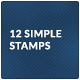 12 Old school simple stamps - GraphicRiver Item for Sale