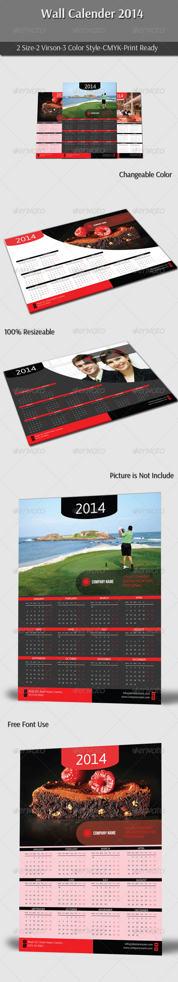 GraphicRiver Wall Calender 2014 6168599
