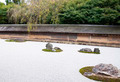 Famous zen garden of the Ryoan-ji temple in Kyoto - PhotoDune Item for Sale