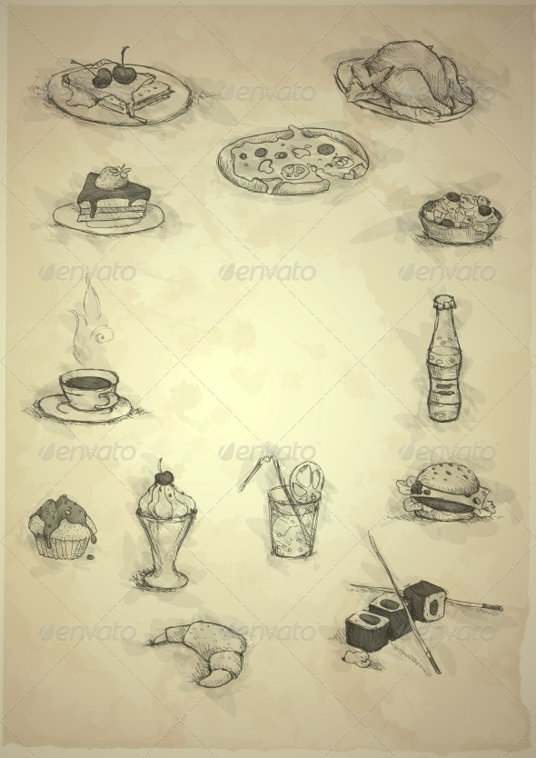 GraphicRiver Set of Hand Drawn Various Elements 6168989