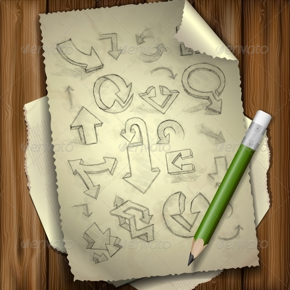 GraphicRiver Set Of Hand Drawn Doodle Arrows 6168991