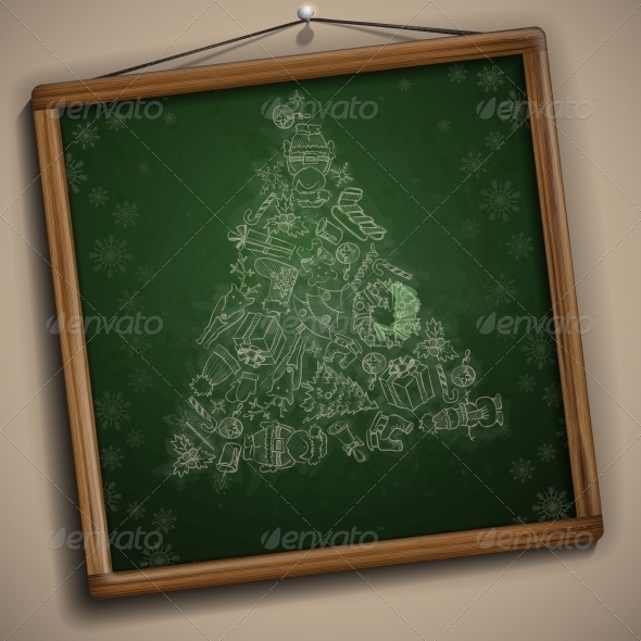 GraphicRiver Hand Drawn Christmas Set 6168996