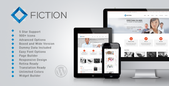 Fiction | Flexible and Responsive WordPress Theme - Business Corporate