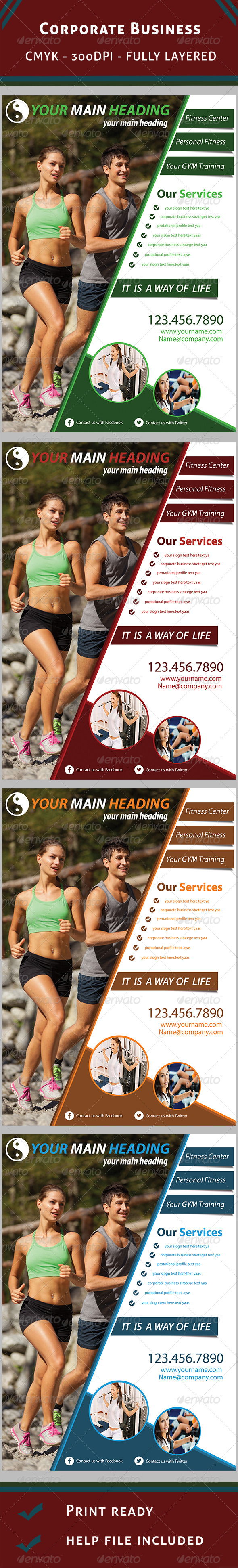 GraphicRiver Fitness Flyer 5950233