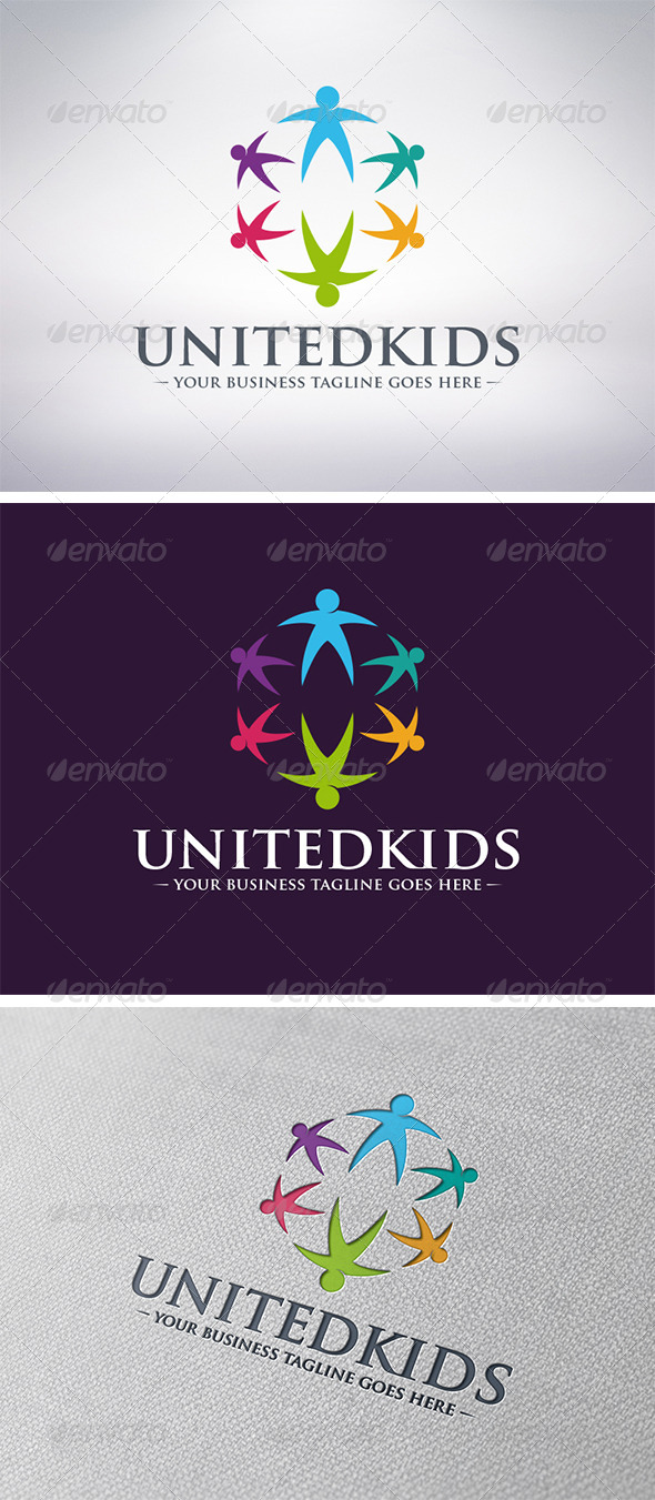 GraphicRiver Kids World Logo 6170640