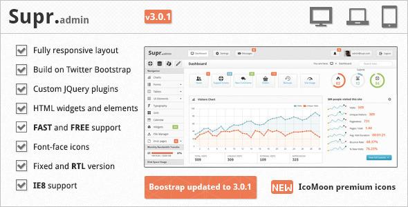Supr - Responsive Dashboard Admin Template | ThemeForest