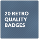 20 Retro Quality Badges - GraphicRiver Item for Sale