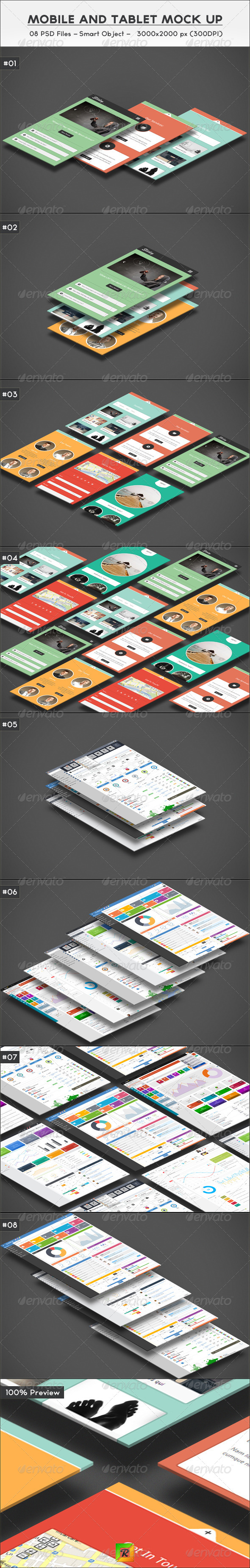 GraphicRiver Mobile And Tablet Mock Up 6171071