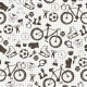 Seamless Pattern with Sport Icons - GraphicRiver Item for Sale