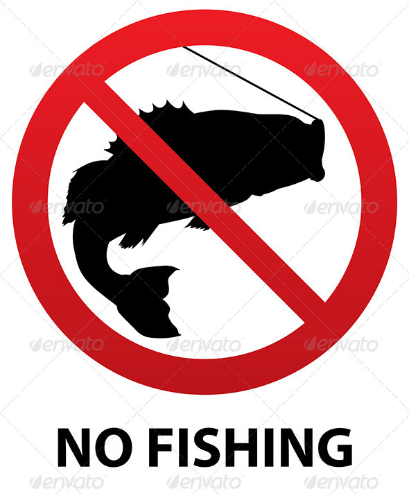GraphicRiver No Fishing Sign 6171874