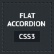 CSS3 Flat Accordion - CodeCanyon Item for Sale