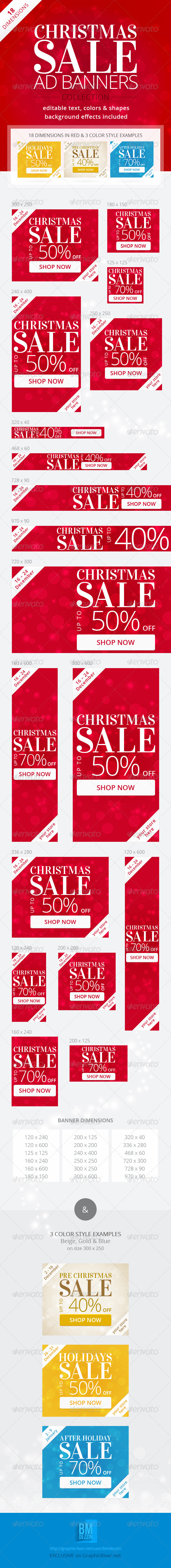 GraphicRiver Christmas Sale Web Ad Banners 6136335