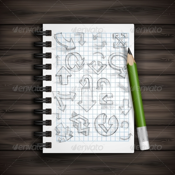 GraphicRiver Set of Hand Drawn Doodle Arrows 6172606