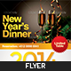 New Year's Dinner Flyer Template - GraphicRiver Item for Sale