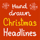 Hand Drawn Christmas Headlines - GraphicRiver Item for Sale