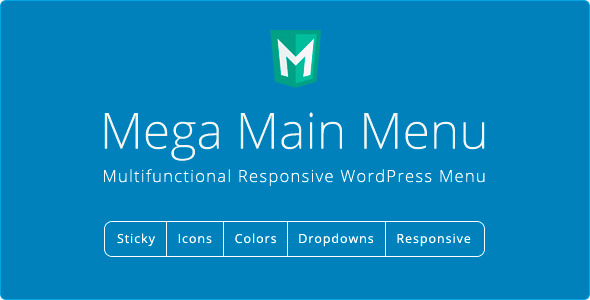 CodeCanyon Mega Main Menu WordPress Menu Plugin 6135125
