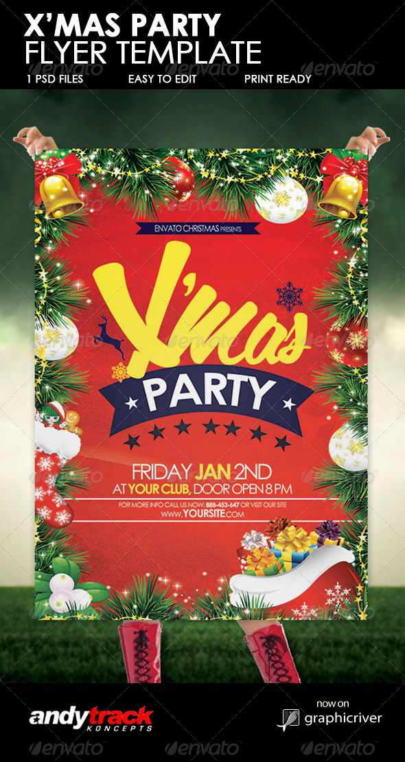 GraphicRiver Christmas Party Flyer Template 6173027