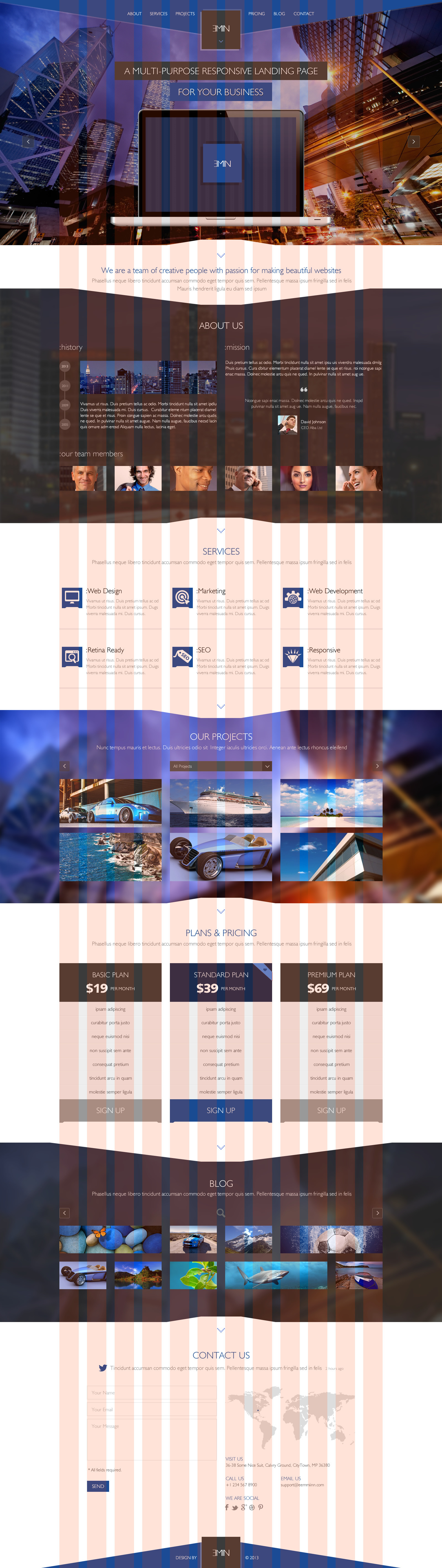 Emin - Multi-Purpose PSD Landing Page