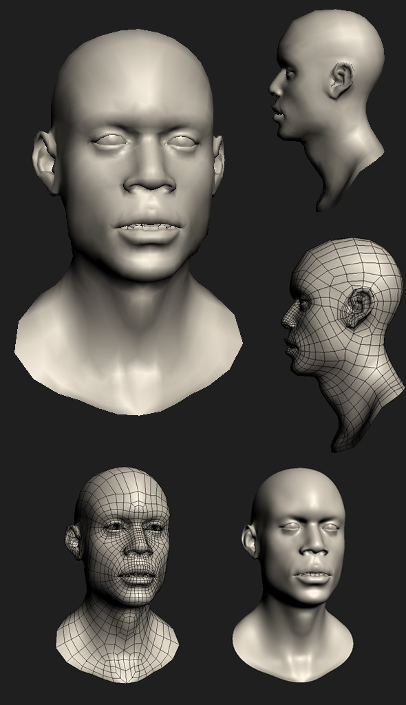 Male Head  - 3DOcean Item for Sale