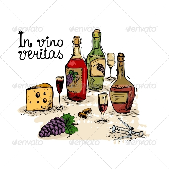GraphicRiver Wine Still Life 6174219