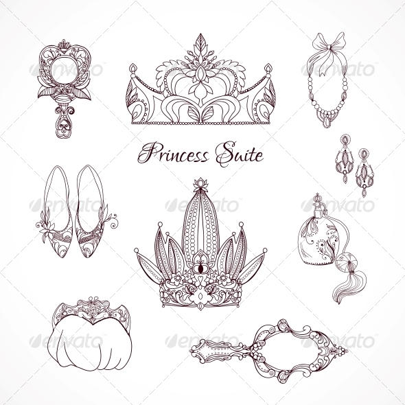 GraphicRiver Princess Design Elements 6174302