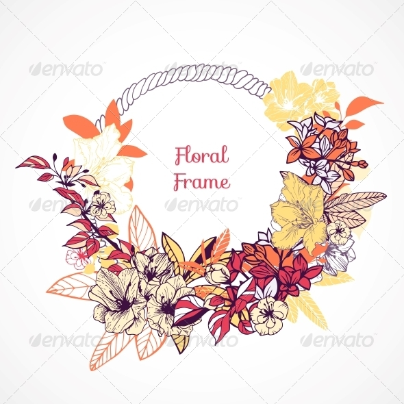 GraphicRiver Floral Frame Template 6174305