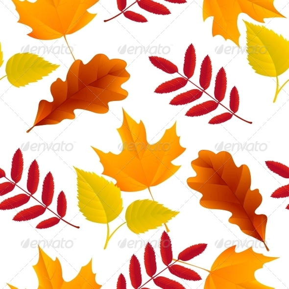 GraphicRiver Seamless Autumn Leaves Pattern 6174335