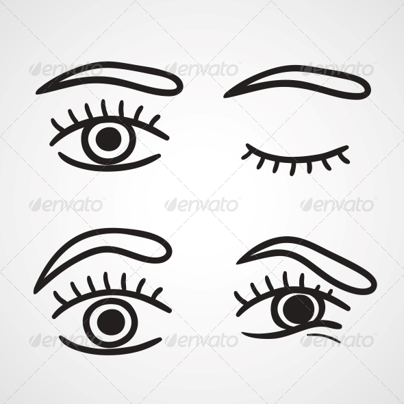GraphicRiver Eyes Icons Design 6174339