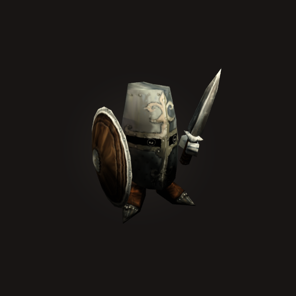 3DOcean mini Knight Low Poly Animated 6175056