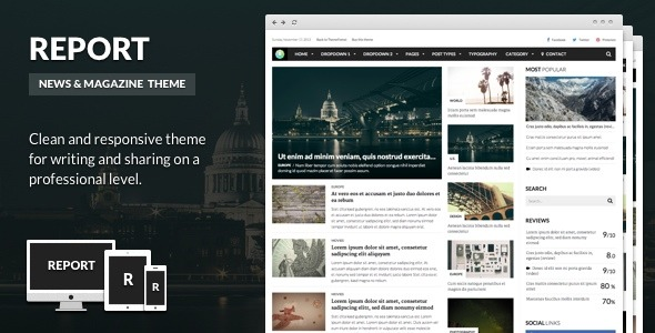Report - News & Magazine Theme for WordPress
