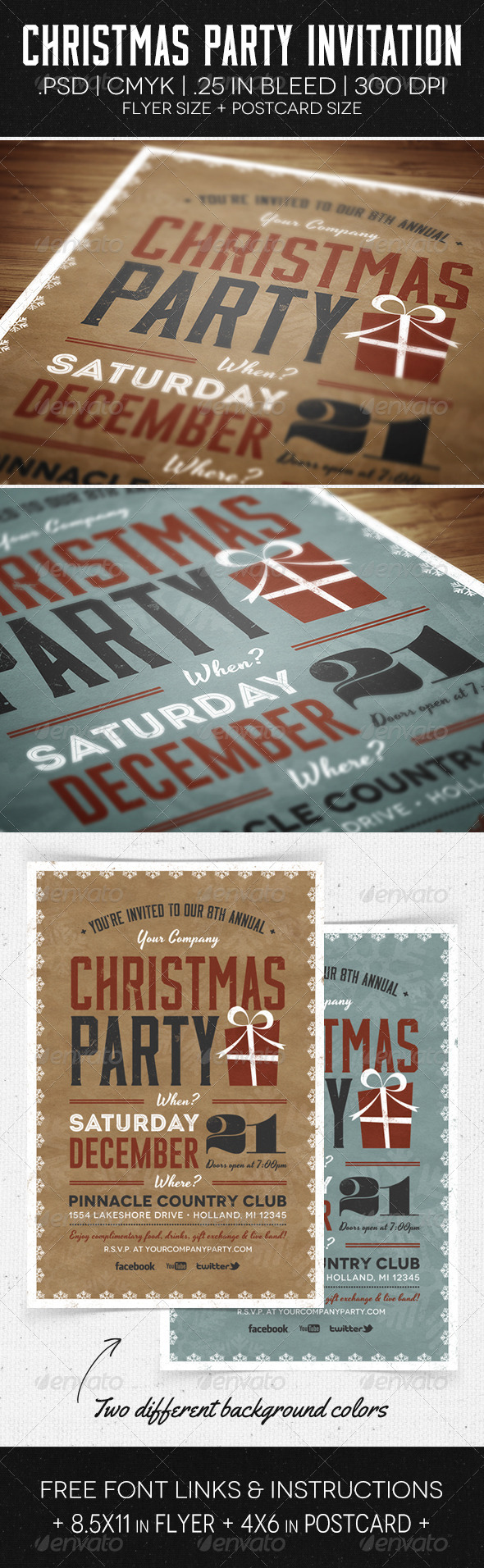 GraphicRiver Christmas Party Flyer & Invitation 6176445